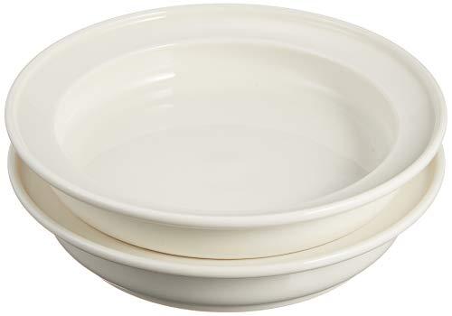 ユニバーサル食器 森正洋デザイン ディープ プレート 16.5cm (2枚セット) ホワイト NB10-322-2