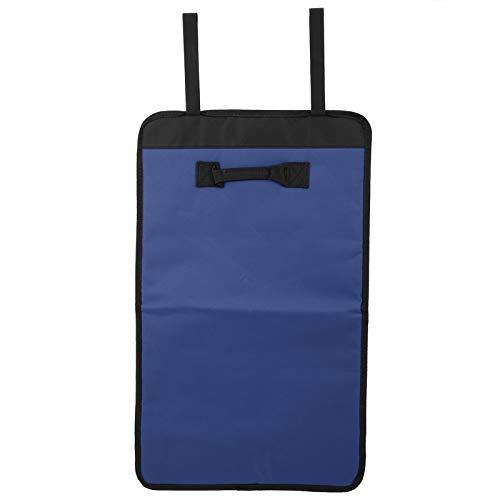 Bolsa enrollable de herramientas, bolsa de almacenamiento de herramientas montada en la pared con múltiples bolsillos, bolsa de almacenamiento de herramientas pequeña de poliéster portátil(azul)