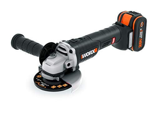 Amoladora Brushless 115mm 20V 2Ah 2 bat, Worx WX813