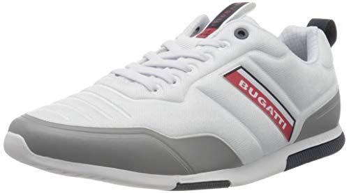 bugatti Herren 322732056900 Sneaker, White, 43 EU