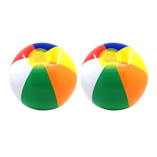 LIOOBO Bola de Agua Inflable de Verano para niños con Pelota de Playa para niños pequeños y niños Deporte al Aire Libre Que Juega la Bola de Agua - (Colorido)
