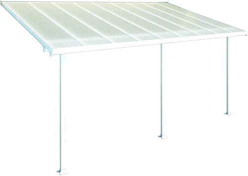 Palram Pergola Patio Cover Feria - Robust Structure for Year-round Use (3X5.46, White)