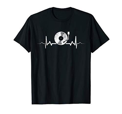 Vinyl Herzschlag - Vintage Retro Musik DJ Geschenk T-Shirt