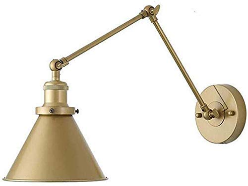 Sconces Väggbelysning Antik Justerbar Metall Vägglampa, E27 Inomhus Vintage Utdragbar Säng Sovrum Läslampa, Loft Swing Kort Arm Vägglampa Korridor Vardagsrum Kontor, 1 Ljus