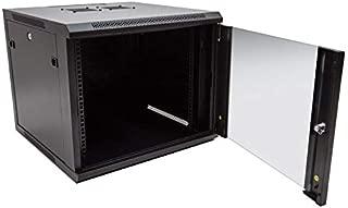 RackSolutions 9U Wall Mount Rack Cabinet Single Section With Locking Glass Door
