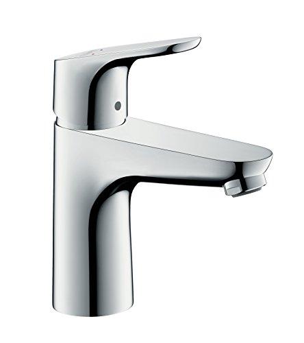 hansgrohe Wasserhahn Focus für geringen Durchfluss (Armatur mit Auslauf Höhe 100mm ohne Ablaufgarnitur) Chrom