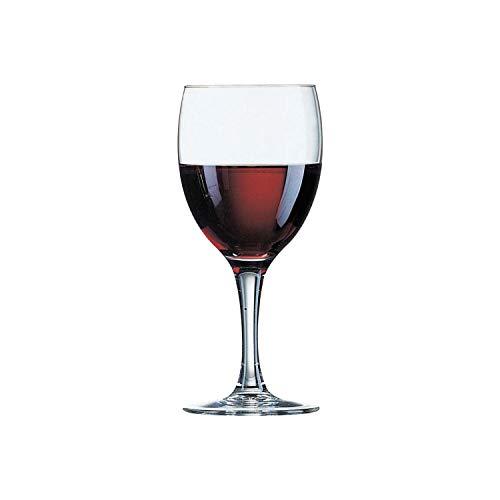 Arcoroc Elegance Bicchiere di vino rosso 245ml, senza contrassegno di riempimento, 12 Bicchiere