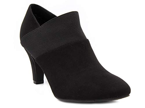 LONDON FOG Womens Bobbie Heel Ankle Booties Black 8