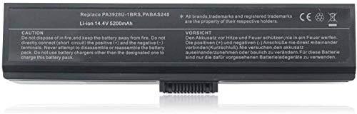PA3928U-1BRS PABAS248 Ersatz-Laptop-Akku für Toshiba Qosmio X775 X775-3DV78 X775-3DV80 X775-3DV82 X775-Q7170 X775-Q7270 X775-Q7272 X775-Q7273 X775-Q7275 X775-Q7380[14.4V 5200MAH ]