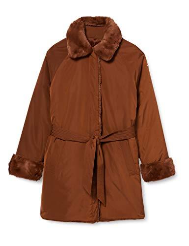 Geox W Kaula abrigo de pelo sintético, Russet, 50 para Mujer