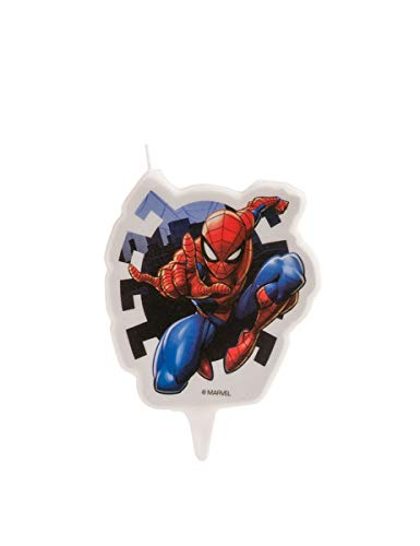 Spiderman 346187 - Candela FIGURINE 2D, in cera, multicolore, 5 x 2 x 8 cm