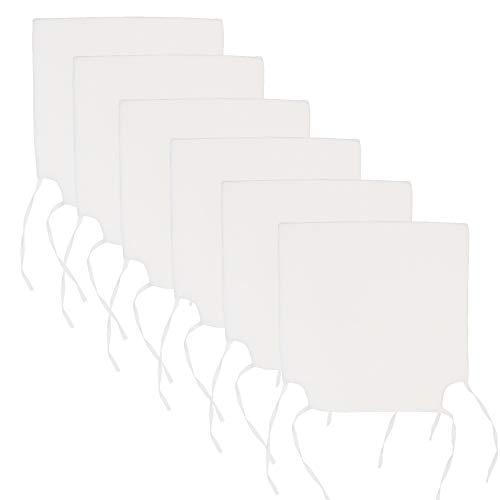 Arcoiris Cojines de Asiento y Silla, 40x40X3cm,Cojín Silla Acolchado, Cómodos, Resistentes, para Cocina, Cuarto, Sala, Jardín, Terraza, Patio (Pack 6 Cojines, Blanco)