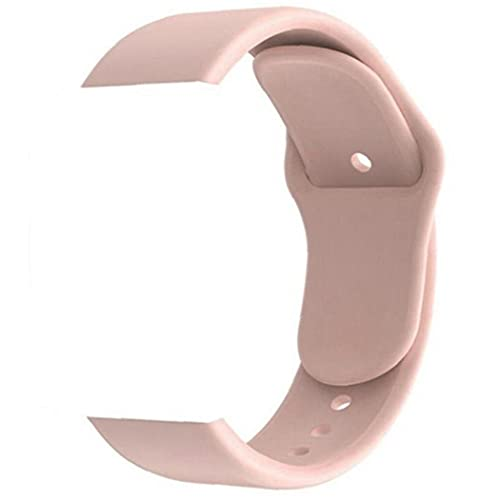 Replacement Strap Silicone Watch Strap Compatible with Y68 Smart Watches Spare Strap Waterproof and Washable Accessories Pink