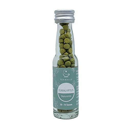 TEABALLS - Eukalyptus, naturtrüb (1 x 12g) | ca. 150 Teaballs | für ca. 30-75 Tassen Tee | 100% rein pflanzlich | Bekannt aus: DAS DING DES JAHRES