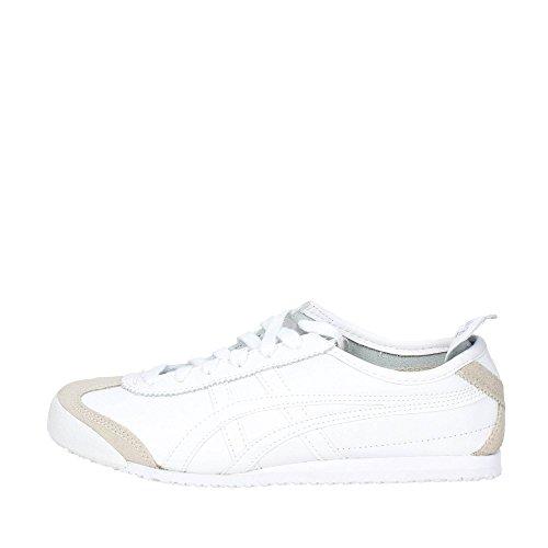 Onistuka Tiger Mexico 66 Unisex-Erwachsene Sneakers, Weiß (0101-10), 39 EU