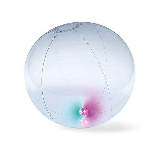 eBuyGB 1284322Fun Light Ball Gonfiabile per la Spiaggia/Vacanze, Trasparente
