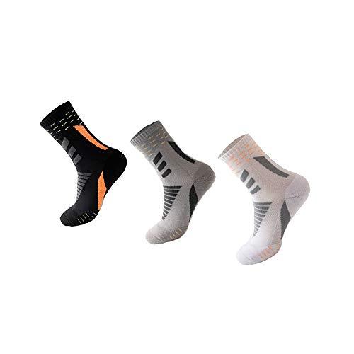 Calcetines deportivos antideslizantes para hombre y mujer se utilizan para fútbol, baloncesto, correr y otros deportes. Transpirable, absorbe el sudor, antifricción. 5 paquetes. Talla única 38-44. (E)