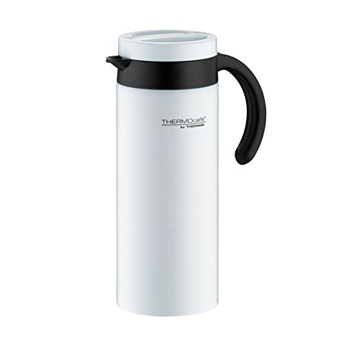 ThermoCafé Thermoskanne Lavender, Edelstahl weiß 1,2L, mit Edelstahleinsatz, 4055.211.120, Isolierkanne hält 10 Stunden heiß, ideal als Kaffeekanne oder Teekanne, Kanne für 9 Cups, BPA-Frei