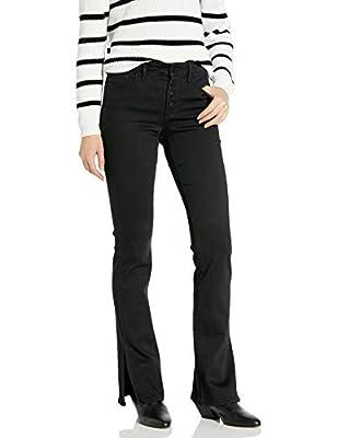 Sanctuary Women's Mid Rise Demi Boot Cut Jean with Side Slits, Jet, 33