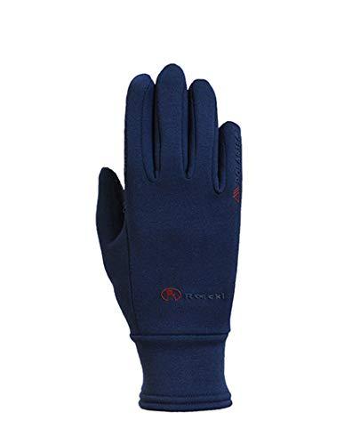 Roeckl Sports Winter Handschuh Warwick, Unisex Reithandschuh Freizeithandschuh (5, Marine)