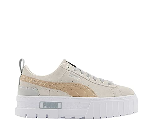 PUMA Mayze WN - Sneaker da donna, Grigio Sabbia Bianco, 38 EU