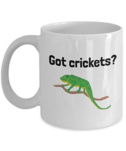 Chameleon Coffee Mug - Chameleon Owner Gift - Present For Chameleon Lovers - Got Crickets?