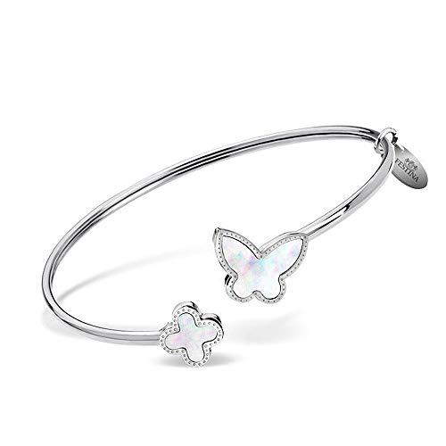 Festina JLS30000-1 - Pulsera para mujer, diseño de mariposa, acero inoxidable, color plateado