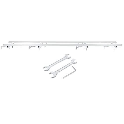 Molino de rieles Molino de guía Sistema de guía Sistemas de guía Kits de barras transversales Marco de motosierras Aleación de aluminio para carpintería Jardín(2.1 meters)