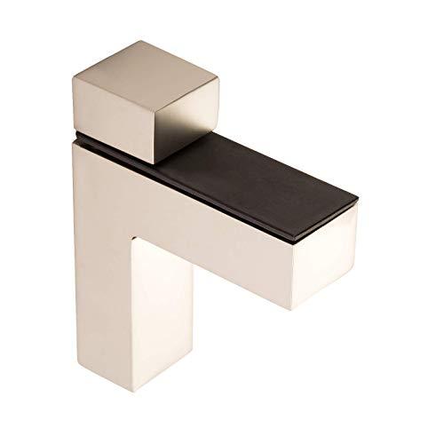 4 Stück SO-TECH® Regalbodenträger HULK Edelstahloptik matt Glasbodenträger Bodenträger für Glas- und Holzböden bis max. 45 mm Stärke