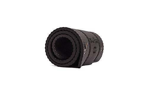 BOOTYMATS Pro - Tapis Fitness de Sol rembourré Confort Maximal pour Fitness, Pilates, Abdominaux, Étirements. Tapis de Sol Ultra-Epais. Dimensions 160 x 60 cm. Épaisseur: 19 mm. en Noir