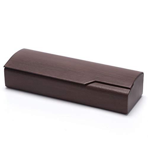 Eysee Brillenetui Hardcase für lesebrille outdoor Erwachsene und Kinder, braun 1, Größe: 16cm X 5cm X 3cm