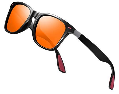 Perfectmiaoxuan Gafas de sol polarizadas Hombre Mujere Lujo Retro/Aire libre Deportes Golf Ciclismo Pesca Senderismo 100% protección UVA gafas unisex golf conducción Gafas gafas de sol