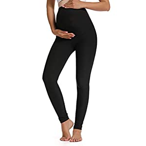 Foucome Women's Maternity Leggings Over The Belly Pregnancy Active Workout Yoga Tights Pants