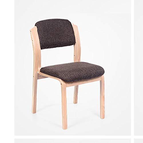 QJY moderne stoel moderne woonkamer eetkamer decoratie stoel club klantenservice met massief houten poten, stof