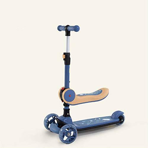 XINKA Kinderroller Kinderroller Baby Yo 2-3-8 Jahre alt Kinder Zwei in Einem klappbar kann montieren 6 Roller