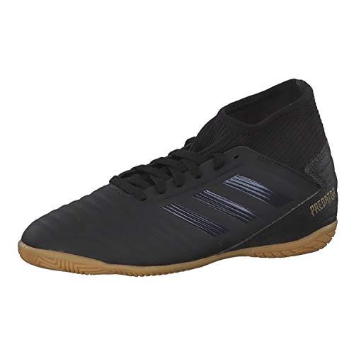 adidas Predator 19.3 IN J Fußballschuhe, Mehrfarbig (Core Black/Core Black/Gold Met. 000), 36 EU