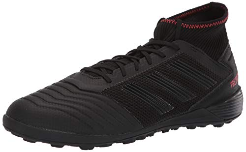 adidas Performance Men's Predator 19.3 Turf Athletic Shoe, Black/Black/Active red, 8 M US