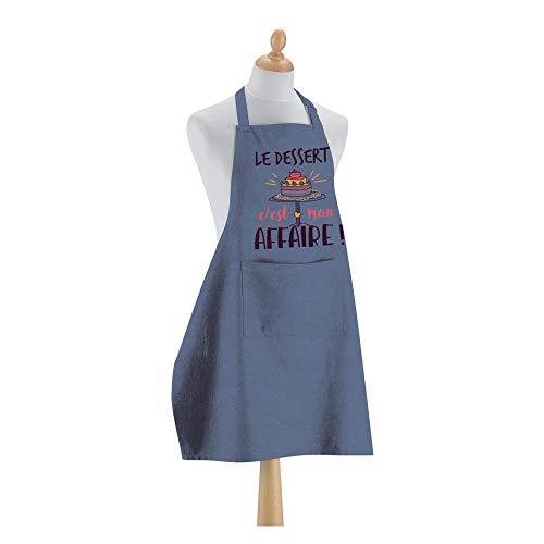 Winkler - Tablier de cuisine > à poche – Blouse lavable 100% coton -– Sangle ajustable