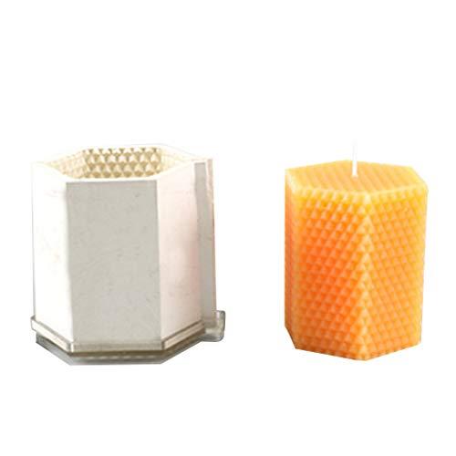 Caingmo - Stampi per candele con stoppino a clip, per regali di Natale fai da te, forniture per candele 3D in silicone, stampi per sapone, fondente, torta, cioccolato, decorazione natalizia