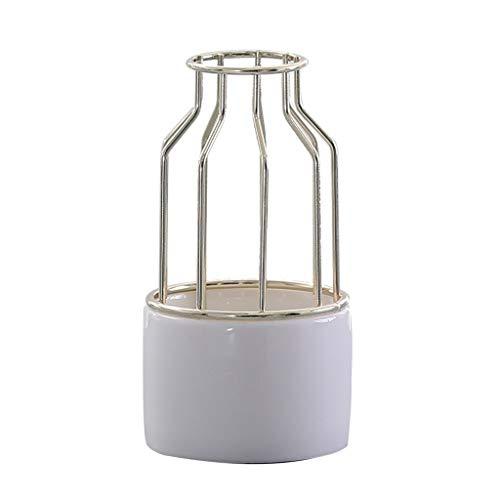 AFQHJ Tin Jug Vaas keramische vaas thuis woonkamer bloem arrangement moderne vaas hol ontwerp witte vaas
