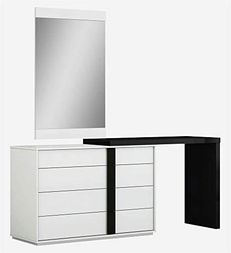 Whiteline Modern Living Kimberly Dresser Extension ONLY in High Gloss Black or White