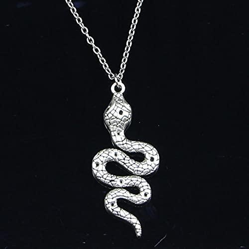 ZOJK Collar 51X21Mm Serpiente Colgantes Corto Largo Mujeres Hombres Colar Gargantilla Regalo De La Joyería