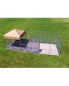 Cove Products 8' X 24' Complete PRO Kennel (Galvanized)