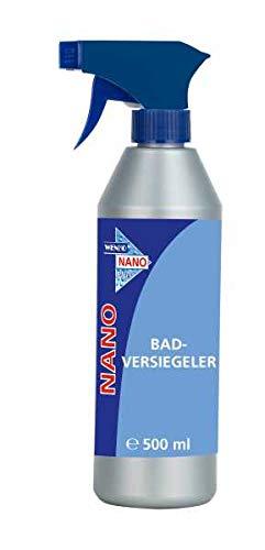 WENKO NANO Badversiegler - Bad-Reiniger mit Oberflächenschutz gegen Kalk & Schmutz Fassungsvermögen: 0.5 l, Chemische Zusammensetzung, 6 x 24 x 6 cm, Transparent