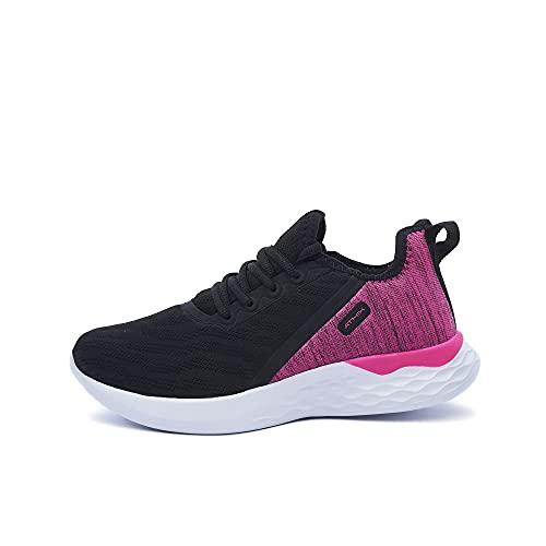 ATHIX Allure Flexy - Zapatillas de Correr para Mujer, Negro (Negro/Rosa Citric), 39 EU - Zapatillas Deportivas, cómodas y Transpirables