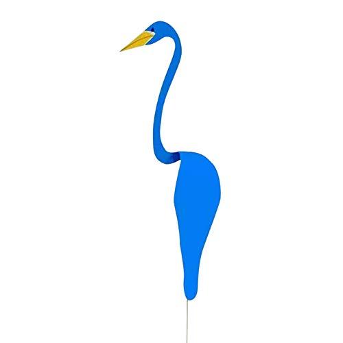 Remolino Pájaro Flamenco Cisne Caprichoso Pájaro Dinámico Ligero Columpio Brisa Decoración De Jardín Decoración De Fuente De Jardín Azul