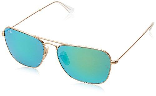 Ray-Ban RB3136 - Caravan, gafas de sol, unisex, color verde (gold), 58 15