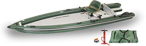 Sea Eagle FSK16 FishSkiff16 Inflatable Frameless Fishing Boat - Solo Startup Package