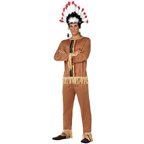 ATOSA disfraz indio hombre adulto marrón claro M