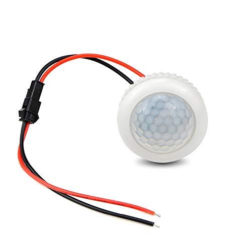 Xligo - 10 interruptores de sensor de movimiento por infrarrojos PIR para inducción de cuerpo humano, interruptor de luz LED empotrable de techo o pared de 220 V